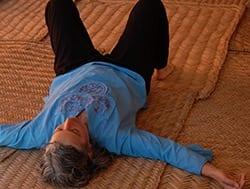 lee lying down